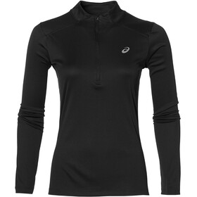 asics LS 1/2 Zip Top Hardloopshirt lange mouwen Dames zwart